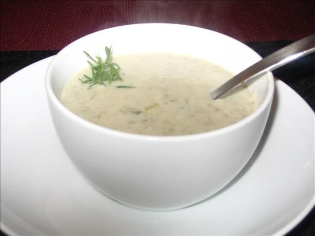French Mushroom and Scallion Soup. Super tasty. Skipped the cream ...
