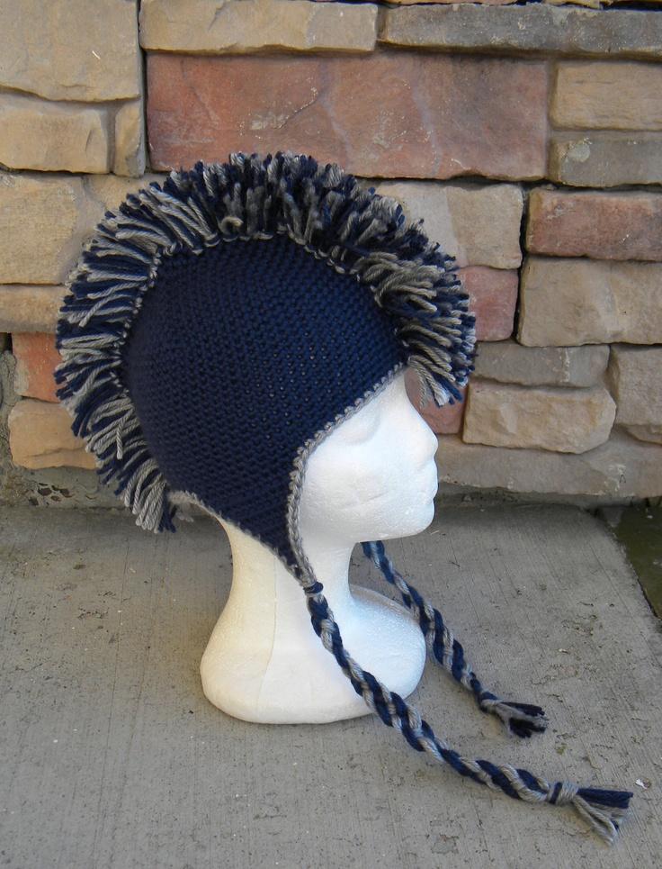 Crochet Pattern 029 - Mohawk Earflap Beanie Hat - All ...