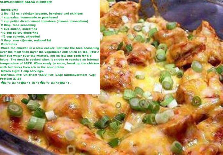 Slow Cooker Salsa Chicken | Main Courses | Pinterest