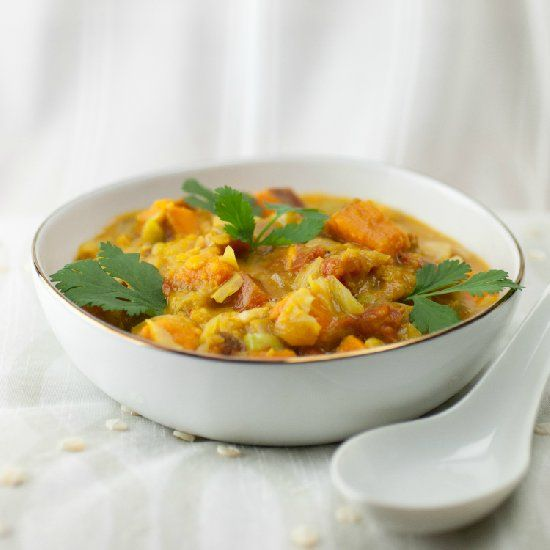 Thai Lentil & Sweet Potato Stew - This stew is thick, and filling. It ...