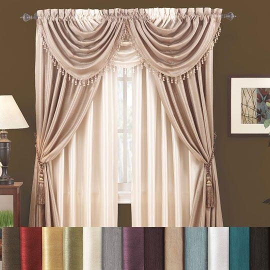 ... overskirt layer? | Anna's Linen Faux Silk Window Curtain $11-$15/pc