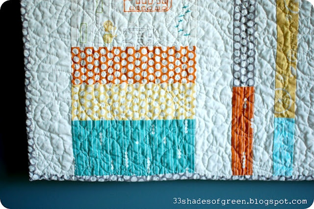 33 Shades of Green: A Quilt for Baby S