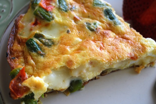 Heirloom Tomato, Ham And Fontina Frittata Recipe — Dishmaps