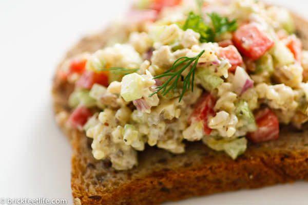 vegan tuna salad on bread | Salads | Pinterest