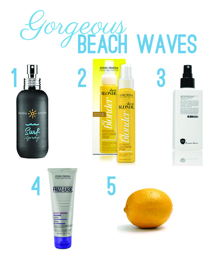 Hair products for gorgeous beach waves!  Twila amp; Co. Blog