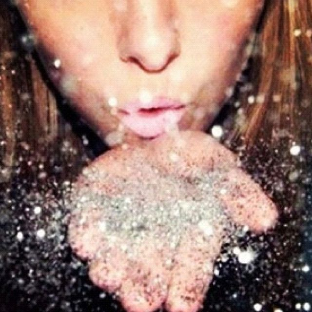 Blowing glitter... | Into Thin Air | Pinterest