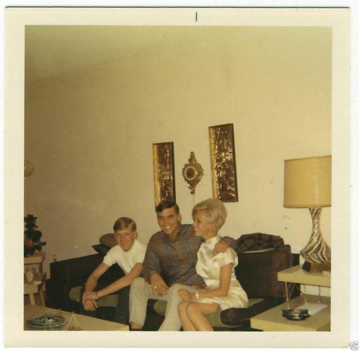 1960s Family Living Room Decor Vintage Photo