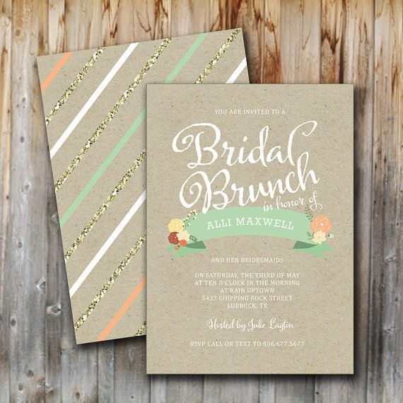 Bridal Brunch Shower Invitations is one of our best ideas you might choose for invitation design