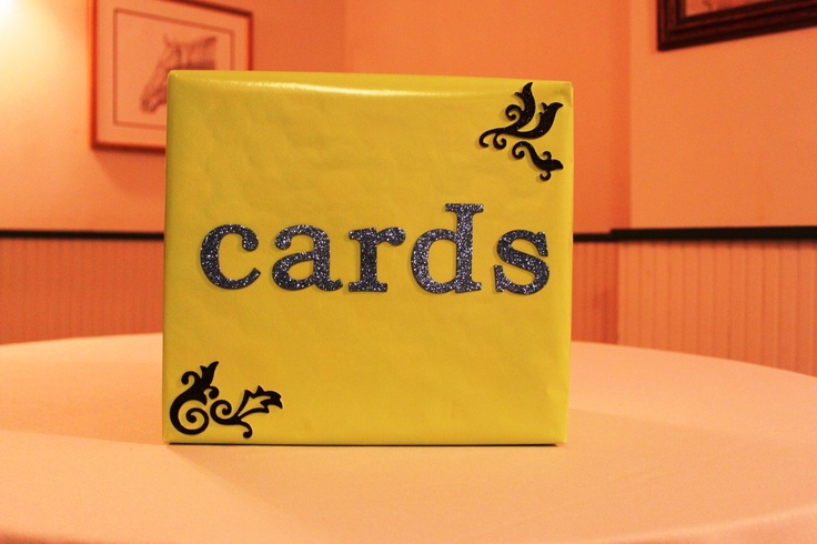 ... - Wedding Card Box Wrapping paper & 3D glitter letters from Michaels