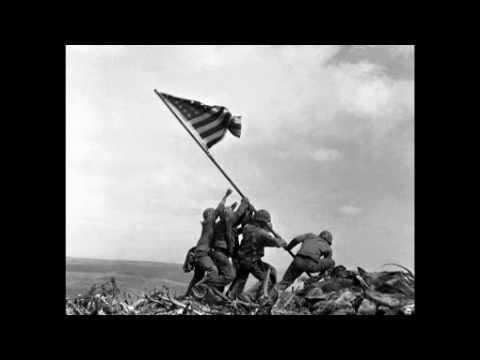 ww2 raising the flag