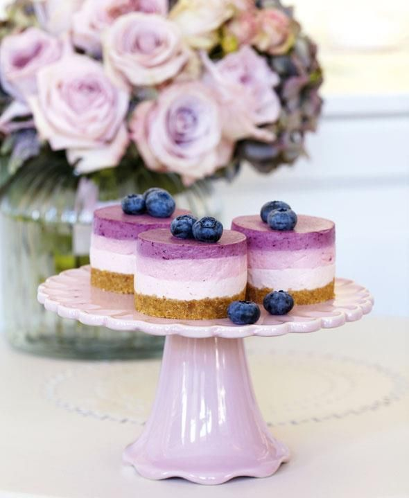 Beautiful! Triple Berry Cheesecakes