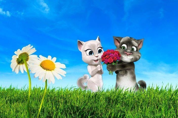 Happy Spring! | Talking Tom and Friends | Pinterest