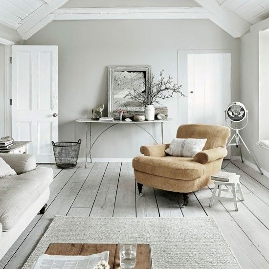 White and Gray Living Room