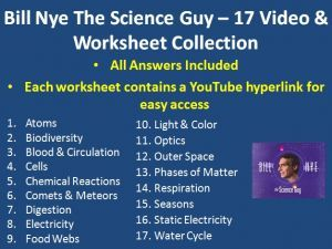 Here is my collection of 17 Bill Nye The Science Guy Video Worksheets ...