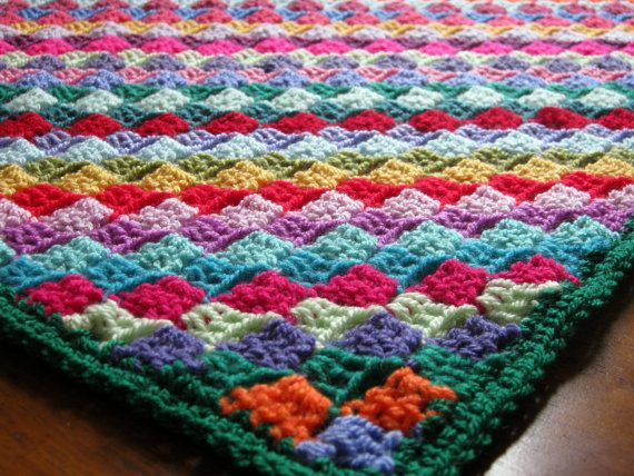 Mosaic Crochet Afghan Pattern : Mosaic Tiny Tiles Multicoloured Baby Crochet by ...