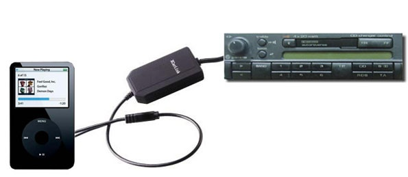 Xcarlink, audio link, ipod adapter, car mpi adapter, i