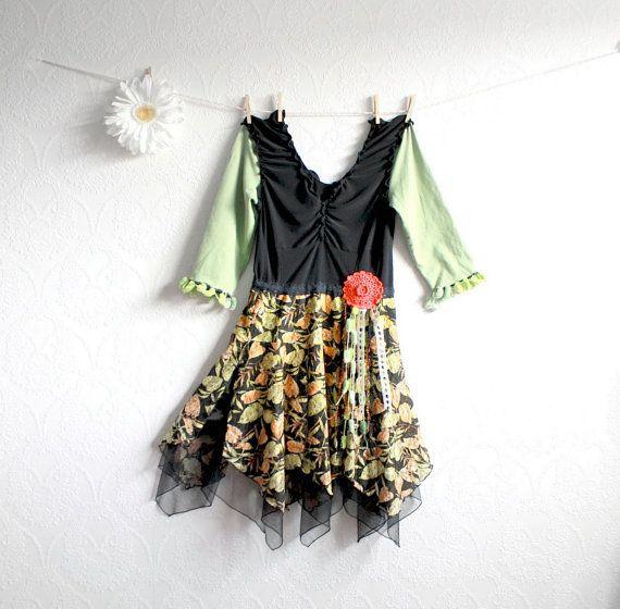 Floral Print Gypsy Clothes Women's Eco Fashion Small Medium 'MARNIE