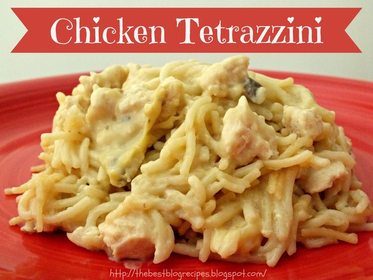 Chicken Tetrazzini recipe from {The Best Blog Recipes} http ...