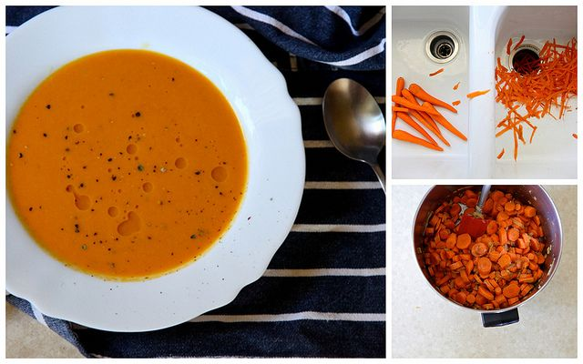 carrot ginger soup with chile butter curried coconut carrot soup ...