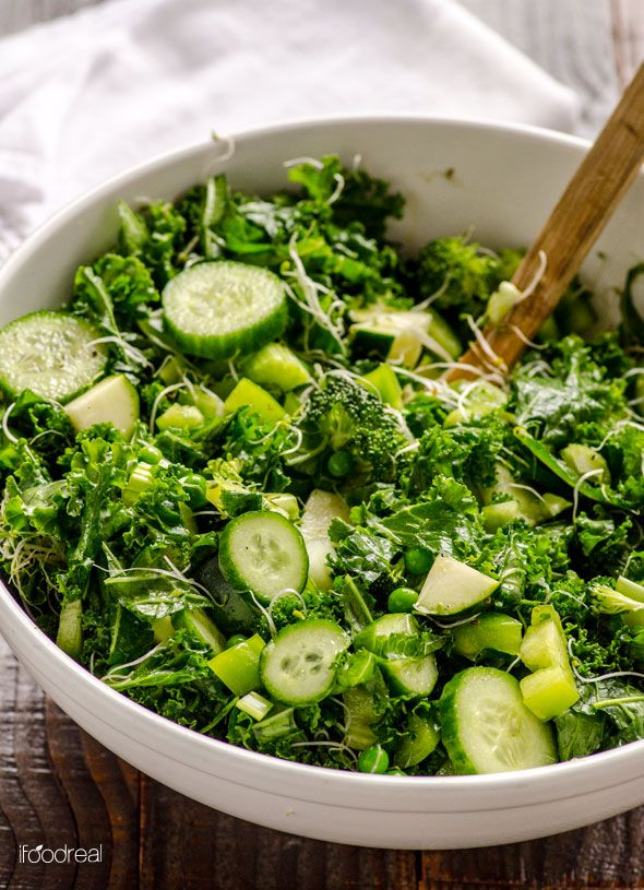Green Kale Salad Recipe -- This salad will please the most avid kale ...