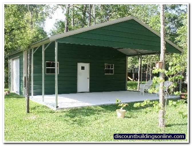 24x30 carport with attached garage carport pinterest for Garage 24x30
