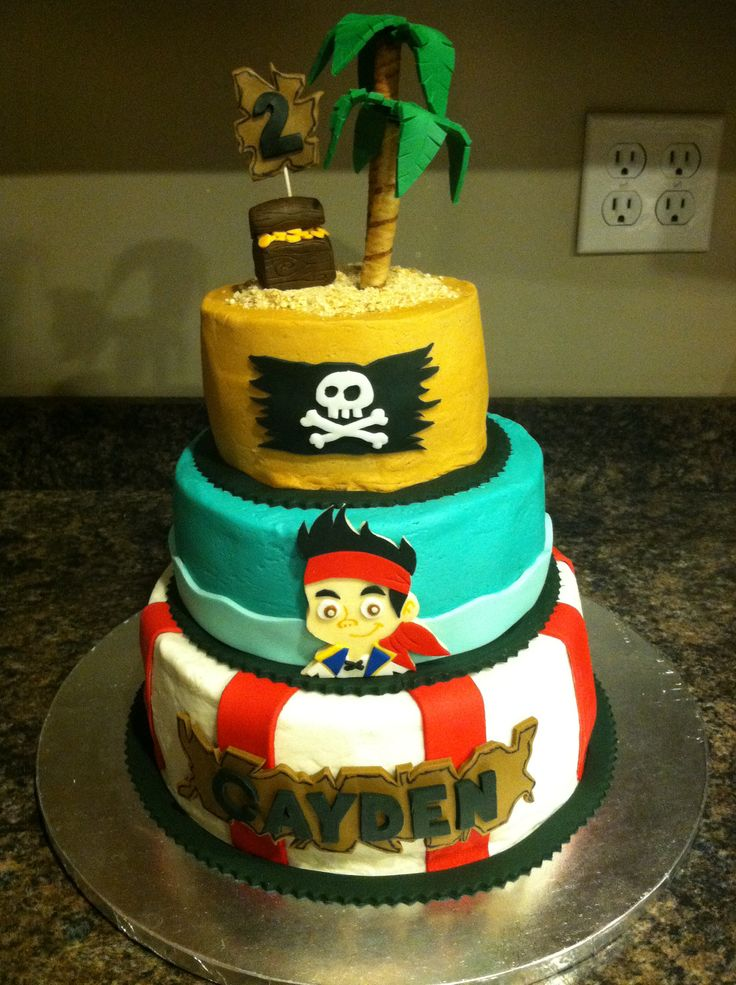 jake and the neverland pirates tiered cake - photo #30