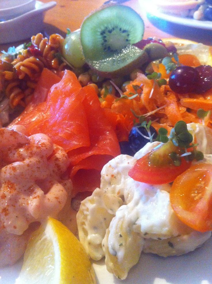 The ultimate salad - Prawn, Trout, Pasta, Cous cous, Beans, Pulses ...