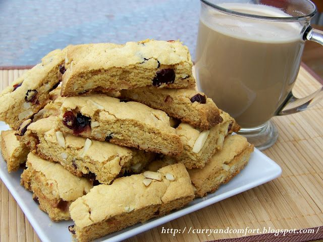 Cranberry and Almond Biscotti Recipe | recipes--breakfast | Pinterest