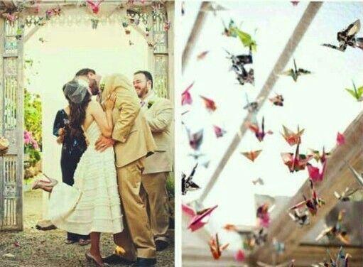 Decoracion Origami Matrimonio ~ Decoraci?n con origami  wedding ideas  Pinterest