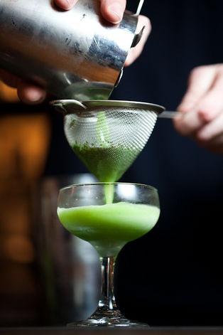 The Bangkok Daiquiri: White Rum, Lime, and Thai Basil. I would totally ...