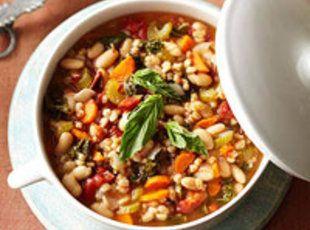 Mediterranean Kale & Cannellini Stew with Farro | Recipe