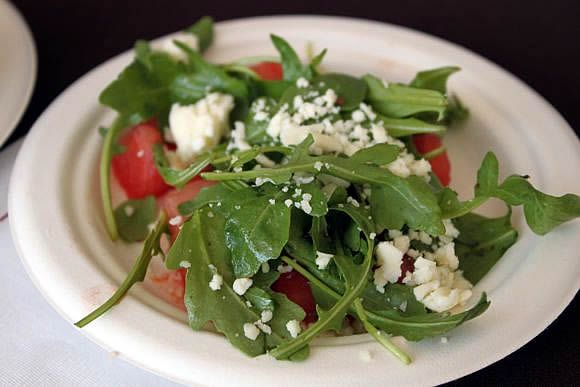watermelon, feta and arugula salad. | Food I want to try | Pinterest