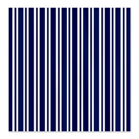 navy blue white stripes shower curtain on