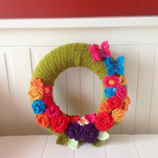 Lovely crochet wall decor d y pinterest Crochet home decor on pinterest