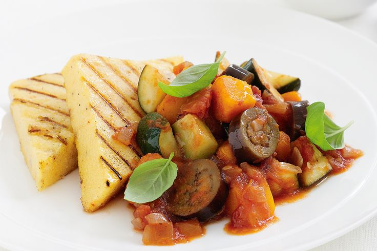 Ratatouille with cheesy polenta | Recipes | Pinterest
