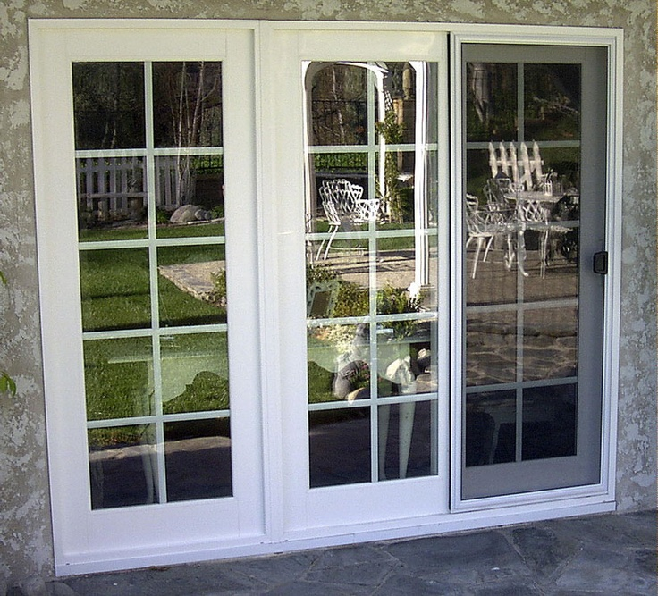3 panel sliding glass patio doors the On 3 panel sliding door