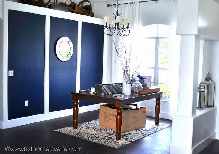 Going BOLD Navy Blue Dining Room Accent Wall