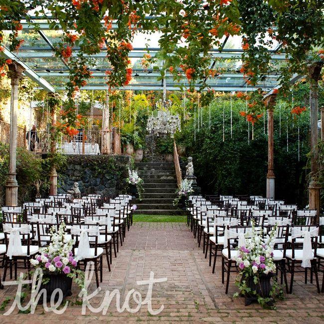 english garden themed wedding ceremony