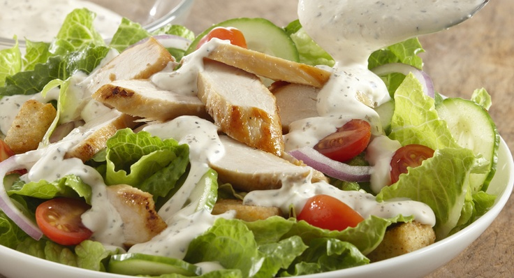 Chicken Salad with Creamy Pepper Parmesan Dressing | Recipe