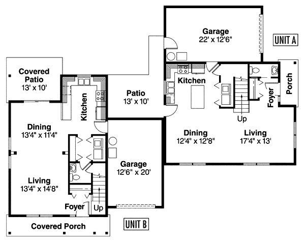 Corner lot duplex house plans quotes for Corner lot home designs