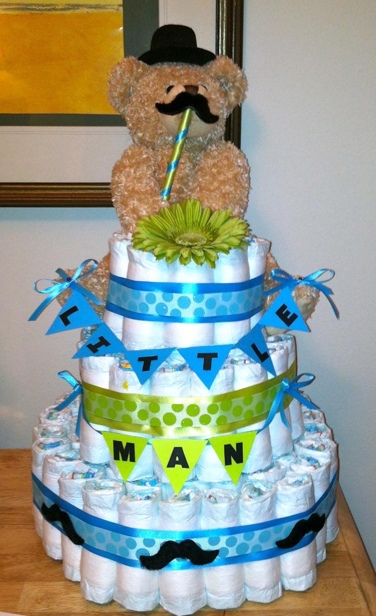 diaper cake little man baby shower ideas pinterest