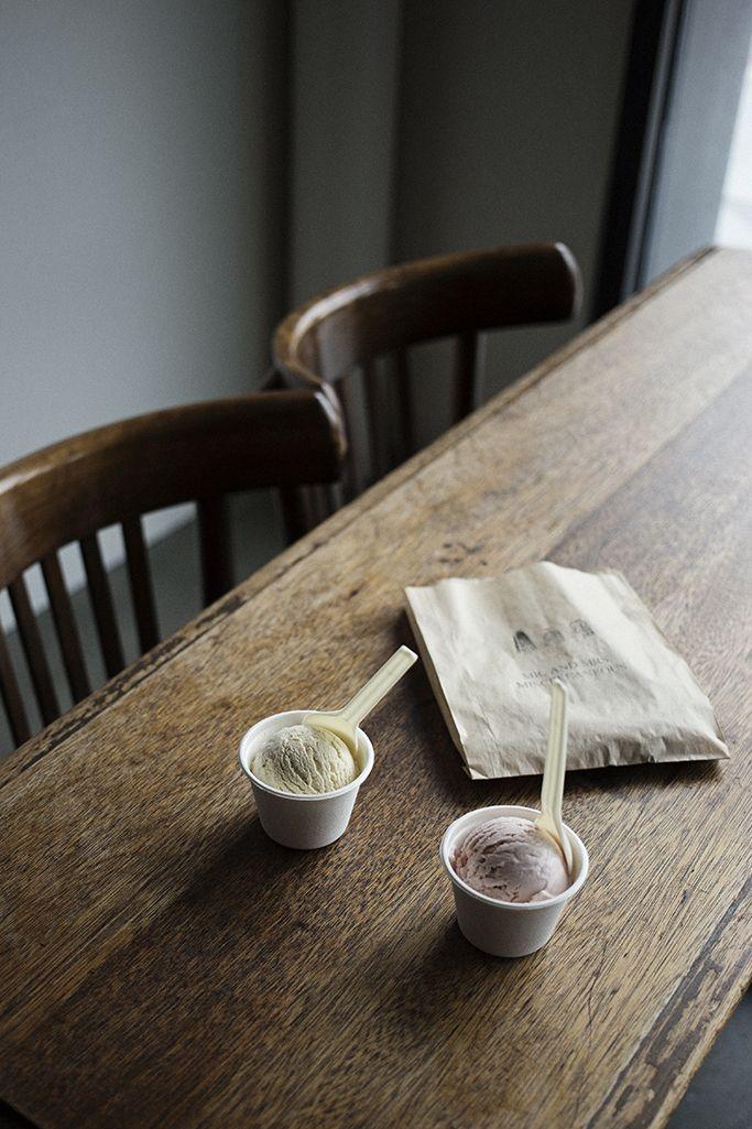 snapshotsoftheordinary: Jasmine green tea and strawberry ice cream ...