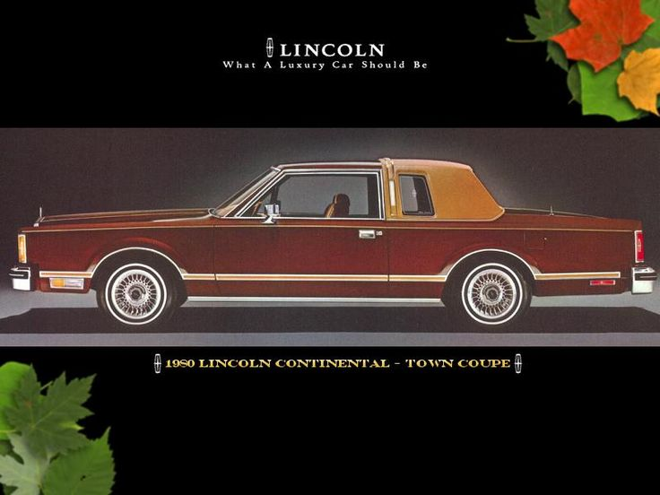 1980 lincoln continental town coupe cars pinterest. Black Bedroom Furniture Sets. Home Design Ideas