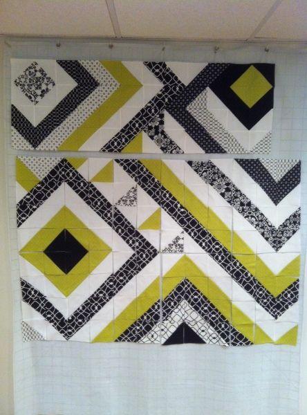 modern angle quilt | quilting - patterns.. blocks | Pinterest