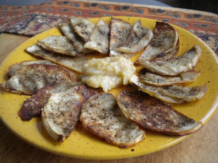 Spicy Eggplant Slices and Roasted Garlic Paste -- this will get you ...