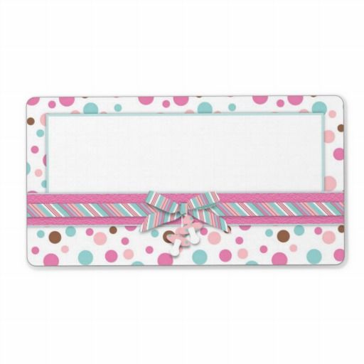 Girl name tag fp2 personalized shipping label