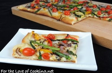 Grilled Vegetable and Smoked Fontina Pizza — Punchfork