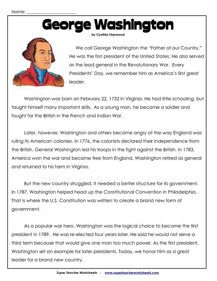 president's day coloring worksheet | George Washington Worksheets