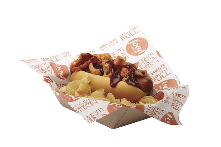 Visitors to Great American Ballpark in Cincinatti can enjoy the Cincinnati special hot dog, topped with Pork Rinds and BBQ Sauce from our new line of Food Network Stadium Fare!