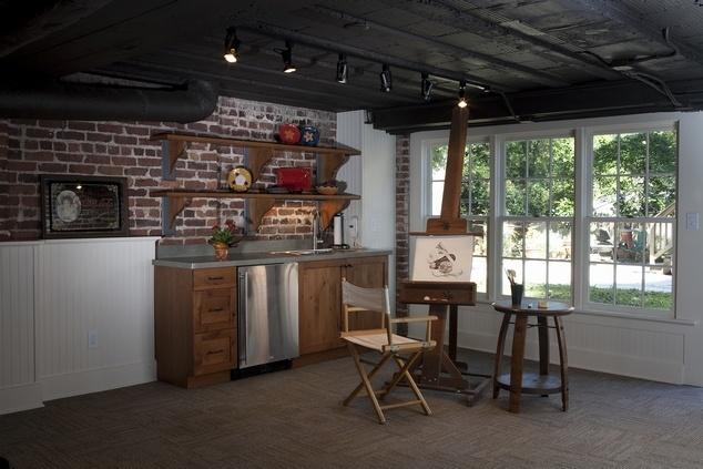 cool basement finished basement pinterest